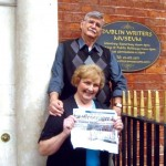 Pat and Ed Steers delivered The Morgan Messenger to the Dublin Writer's Museum when they visited Ireland's capital city during a British Isles tour in June.