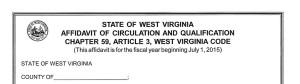 2014-15 WVSOS Newspaper Affidavit now available