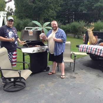 Fayetteville man stages photo to win mega grill - West