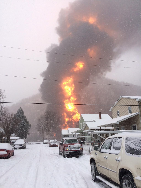 West Virginia state of emergency crude train derails