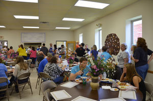 Exponent Telegram file photo  Many area residents enjoy the homemade Greek food served at last year's Greek Food Festival at St. Spyridon Greek Orthodox Church. Organizers say that the sense of community at the festival is one of the biggest reason's for it's enduring success.