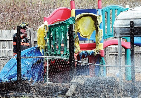 Mulch fire scorches Mercer County playground