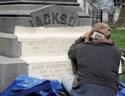 Wife's name added to WV governor's tombstone