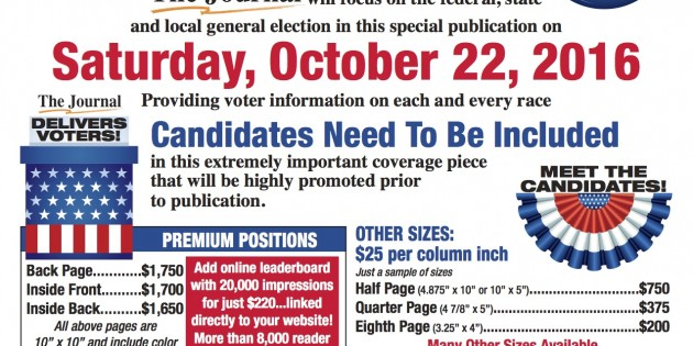 Political Advertising: The Journal in Martinsburg Election Guide