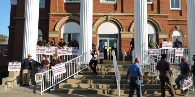 Marshall County power plant tax plan draws protest
