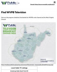 WVPB Television | West Virginia Public Broadcasting 1