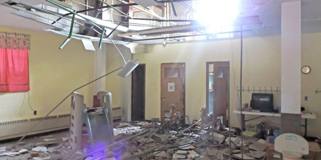 Car causes major damage to Fairmont church