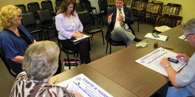 Secretary Warner discusses voter rolls during Brooke stop